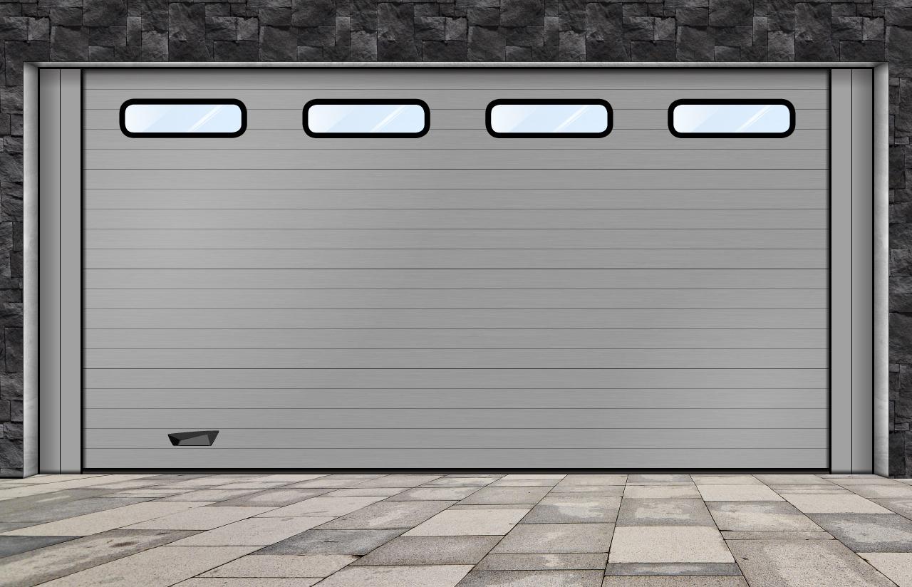 porta seccionada_ com visores industriais pequenos