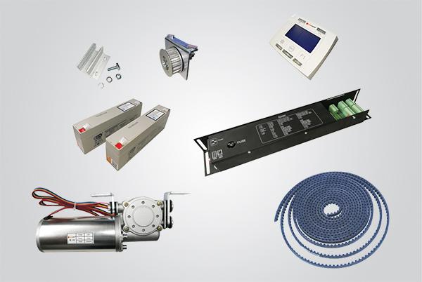 kit eletrônica para porta de vidro