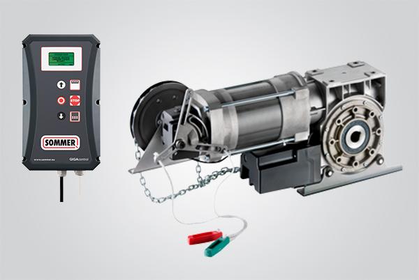 kit motor lateral para porta de enrolar
